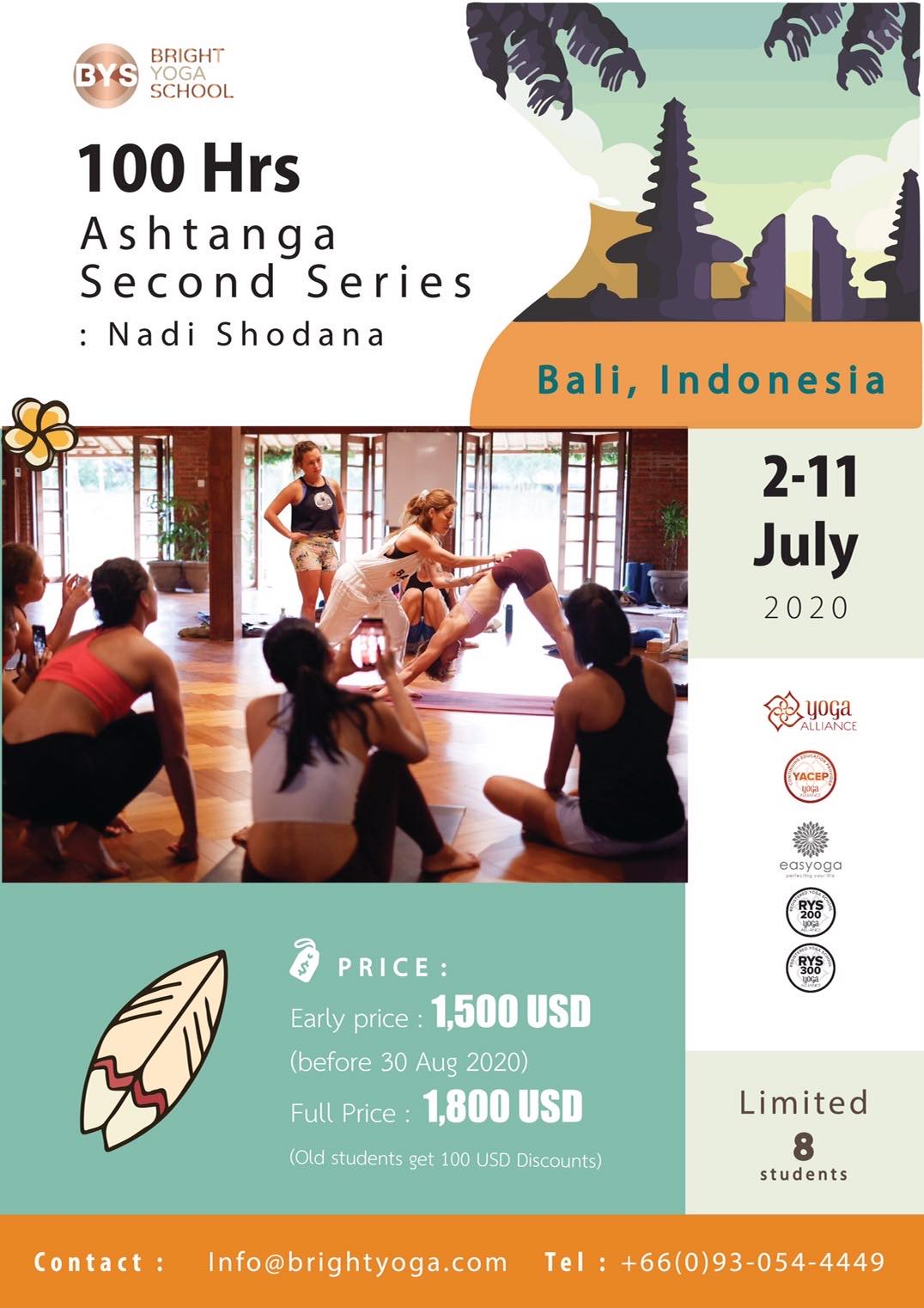 100 Hrs Ashtanga Second Series : Nadi Shodana in Bali