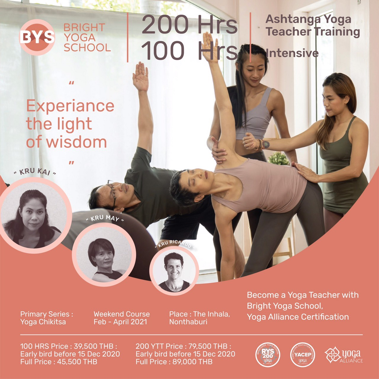 100 Hrs Intensive / 200Hrs Ashtanga Yoga Teacher Training